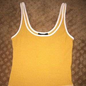 yellow cropped tank top